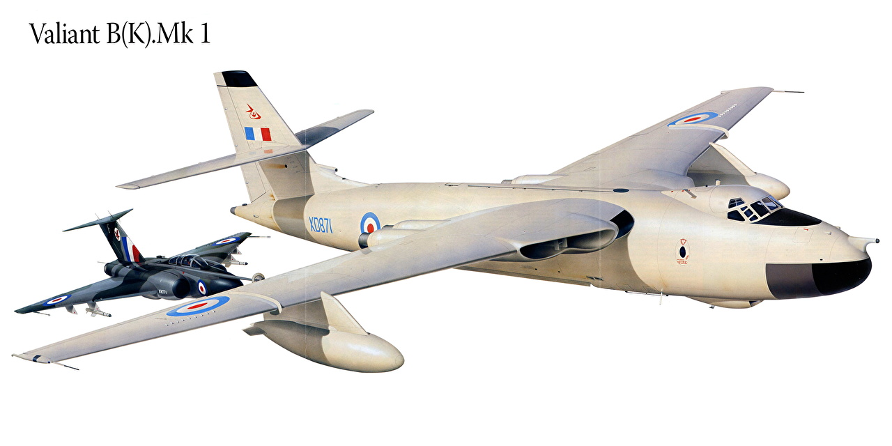 Картинки Самолеты Valiant B(K).Mk 1 Рисованные Авиация