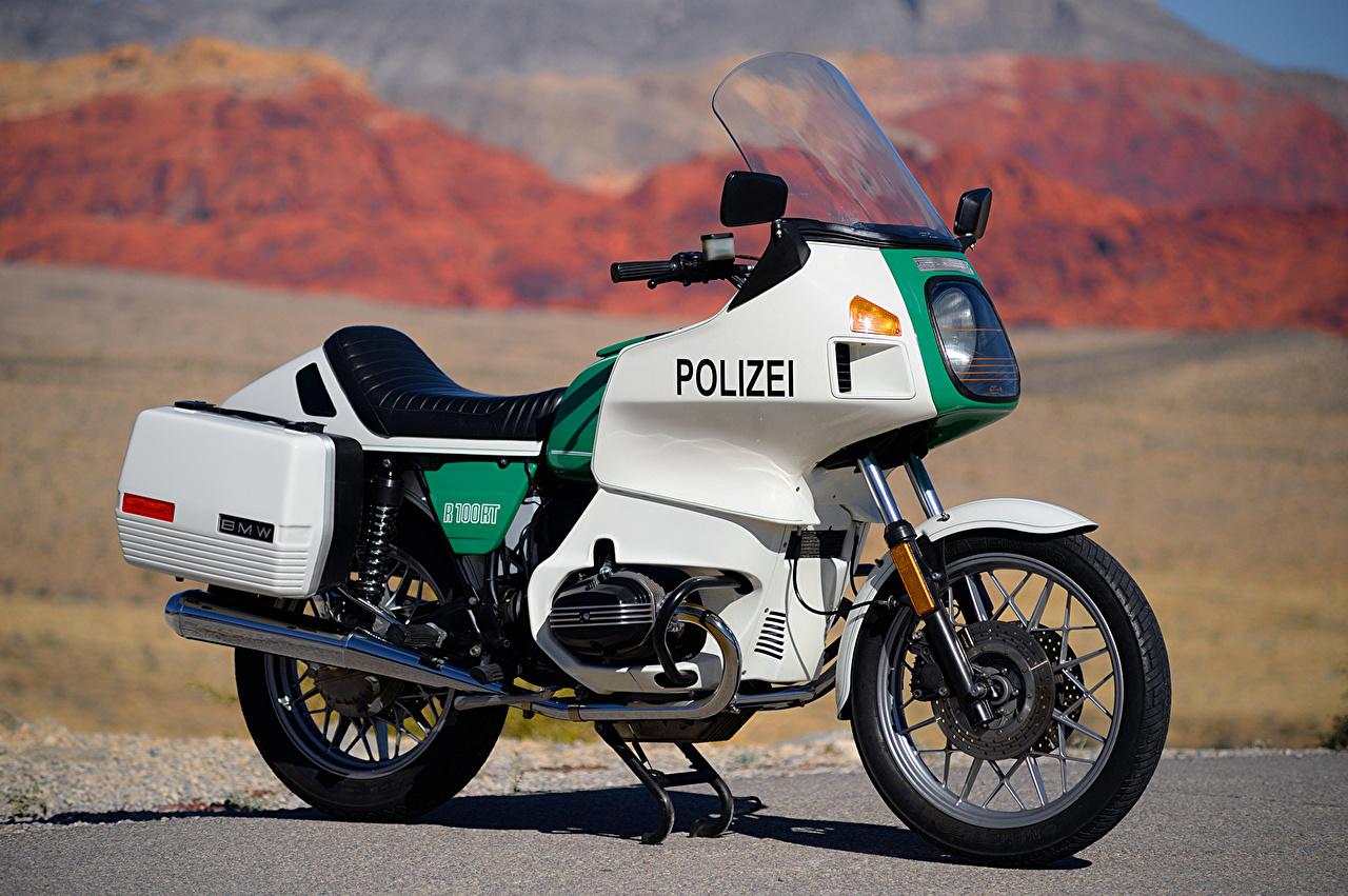 BMW - Мотоциклы 1978-84 R 100 RT Сбоку БМВ, вид Мотоциклы
