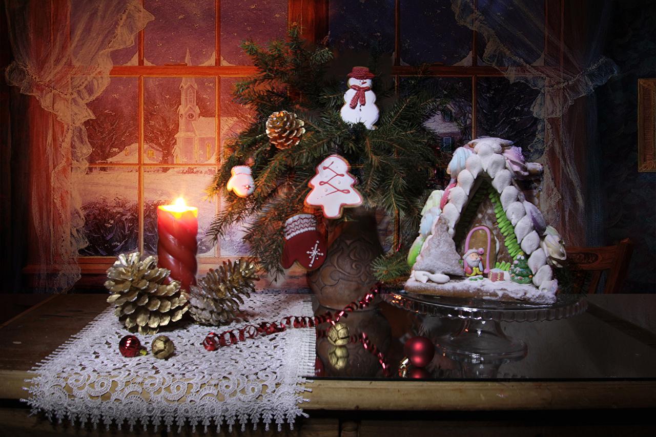 Обои Новый год Варежки Снеговики Еда Окно Свечи Шишки Шарики Печенье Дома Выпечка Натюрморт Дизайн Рождество рукавицы Шар Пища Продукты питания Здания