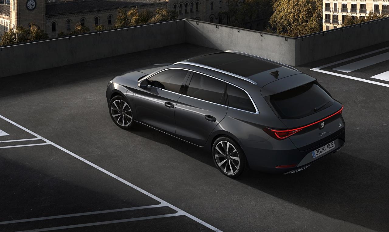 Фото Сиат Универсал Leon ST, 2020 Черный машина Металлик Seat черных черные черная авто машины автомобиль Автомобили
