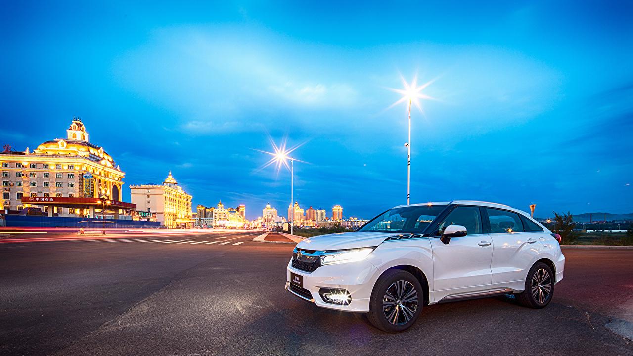Картинки Honda 2016 Avancier белые машины Металлик Хонда белых Белый белая авто машина автомобиль Автомобили