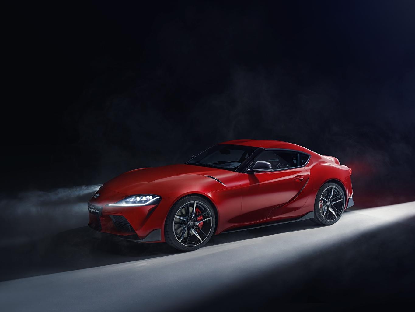 Обои для рабочего стола Toyota Supra 2019 Красный машина Тойота красных красные красная авто машины автомобиль Автомобили