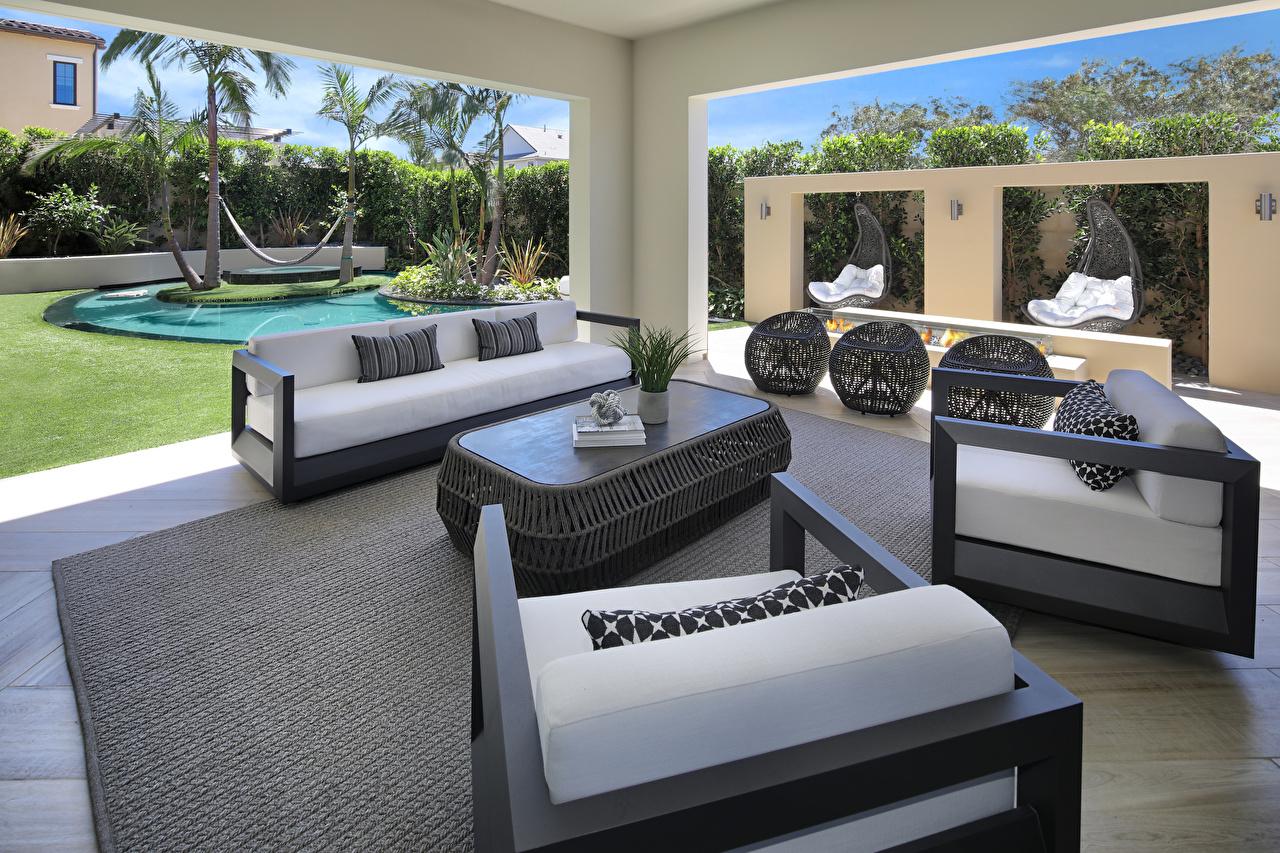 Обои для рабочего стола Гостиная Интерьер Кресло диване дизайна гостевая Диван Дизайн