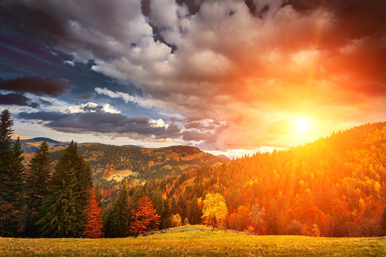Обои Облака, осень. Пейзажи foto 6