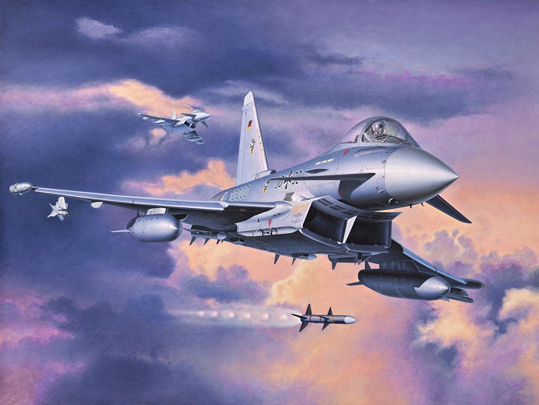 Обои самолеты, Eurofighter typhoon. Авиация foto 8