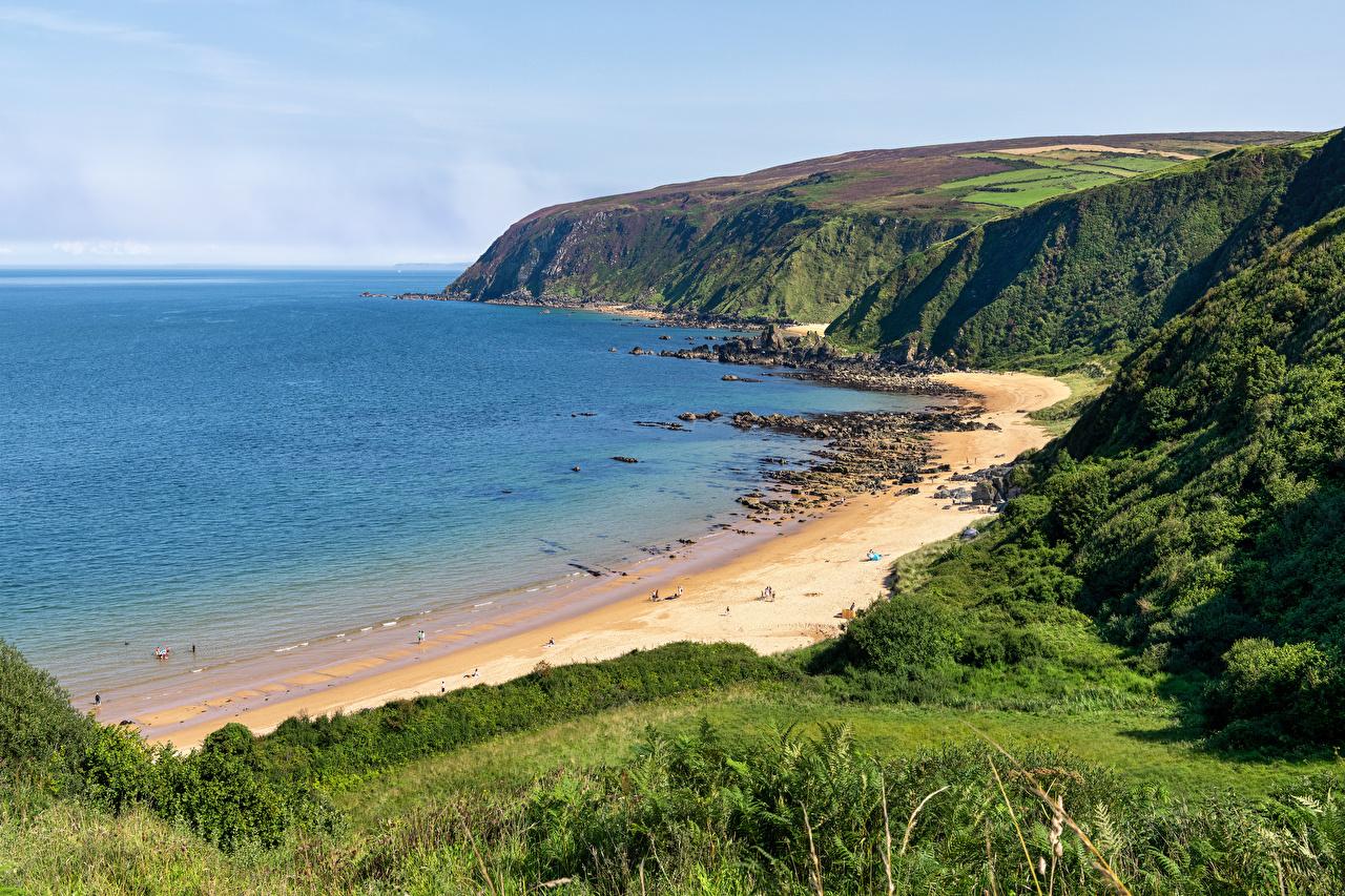 Фотографии Ирландия Kinnagoe Bay Пляж Природа берег пляжа пляже пляжи Побережье