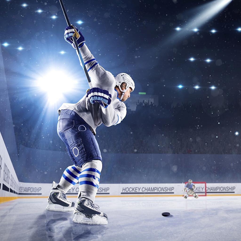 Фотографии Лучи света Шлем мужчина катке спортивные Хоккей Униформа шлема в шлеме Мужчины Каток Спорт спортивный спортивная униформе