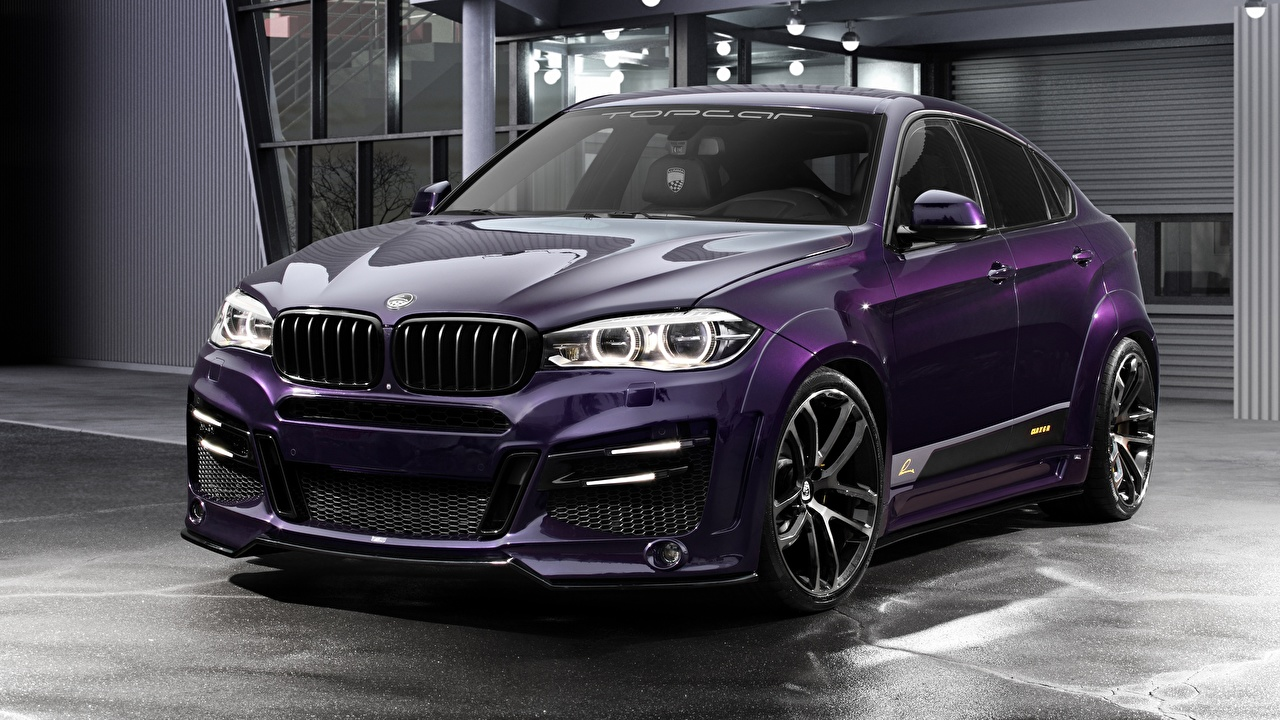 Обои BMW Тюнинг CUV CLR Lumma Design X6R фиолетовая Автомобили БМВ Стайлинг Кроссовер фиолетовых фиолетовые Фиолетовый авто машина машины автомобиль