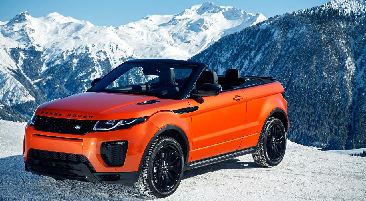 Картинки Range Rover Evoque Convertible, HSE Dynamic, 2016 Кабриолет Красный Металлик Автомобили Land Rover кабриолета красная красные красных авто машины машина автомобиль