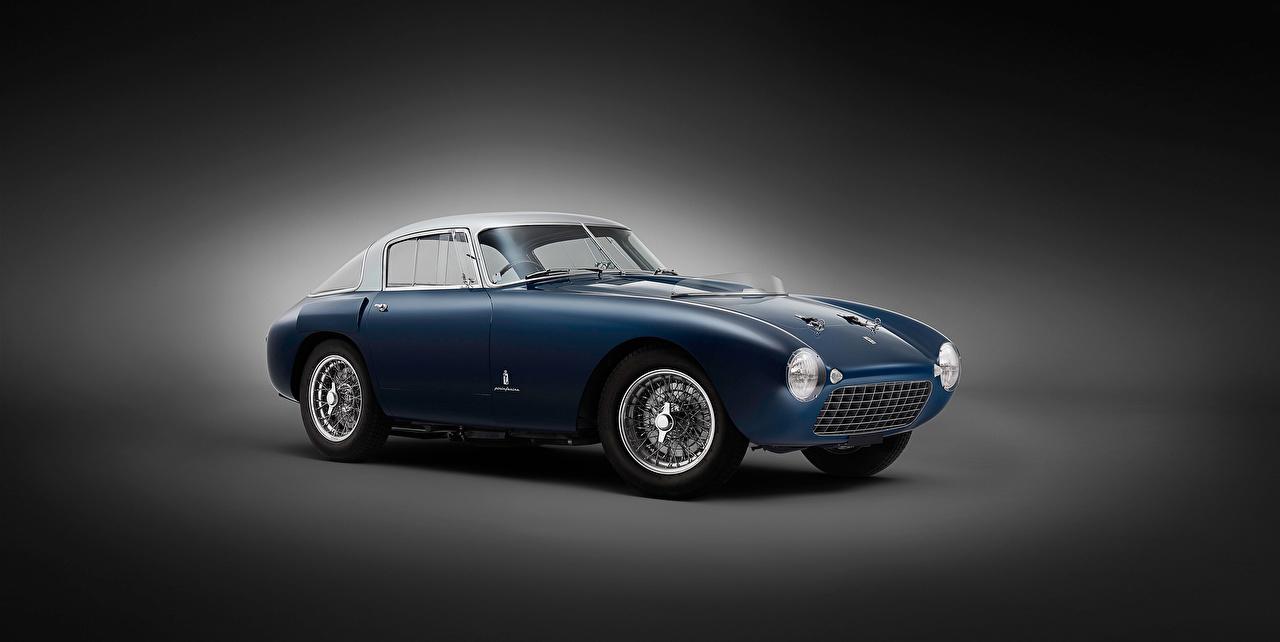 Фотография Автомобили Ferrari 1953 166 MM-53 Berlinetta Pininfarina Винтаж Синий авто машина машины автомобиль Феррари Ретро старинные синих синие синяя