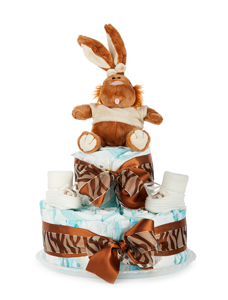 Обои для рабочего стола кролик Торты подарков белым фоном дизайна  для мобильного телефона Кролики Подарки подарок Белый фон белом фоне Дизайн