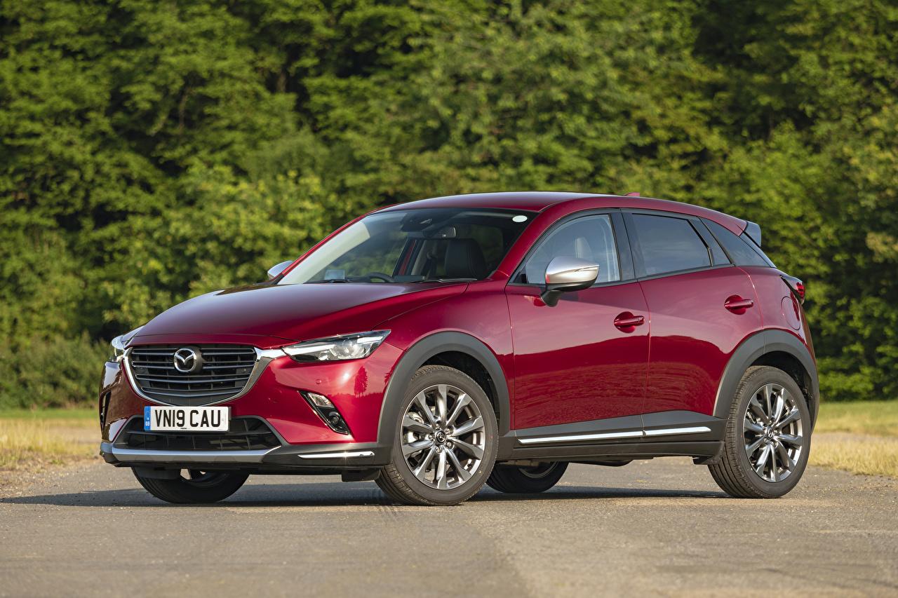 Фото Мазда Кроссовер 2019 CX-3 GT Sport Nav бордовая Металлик Автомобили Mazda CUV Бордовый бордовые темно красный авто машины машина автомобиль