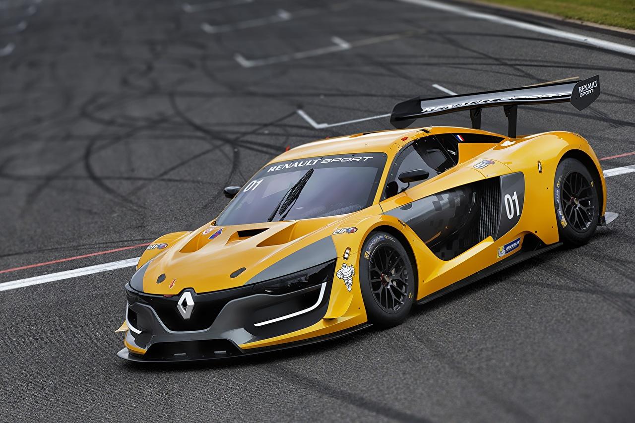 Фото Рено Sport RS Желтый автомобиль Renault желтых желтые желтая авто машина машины Автомобили