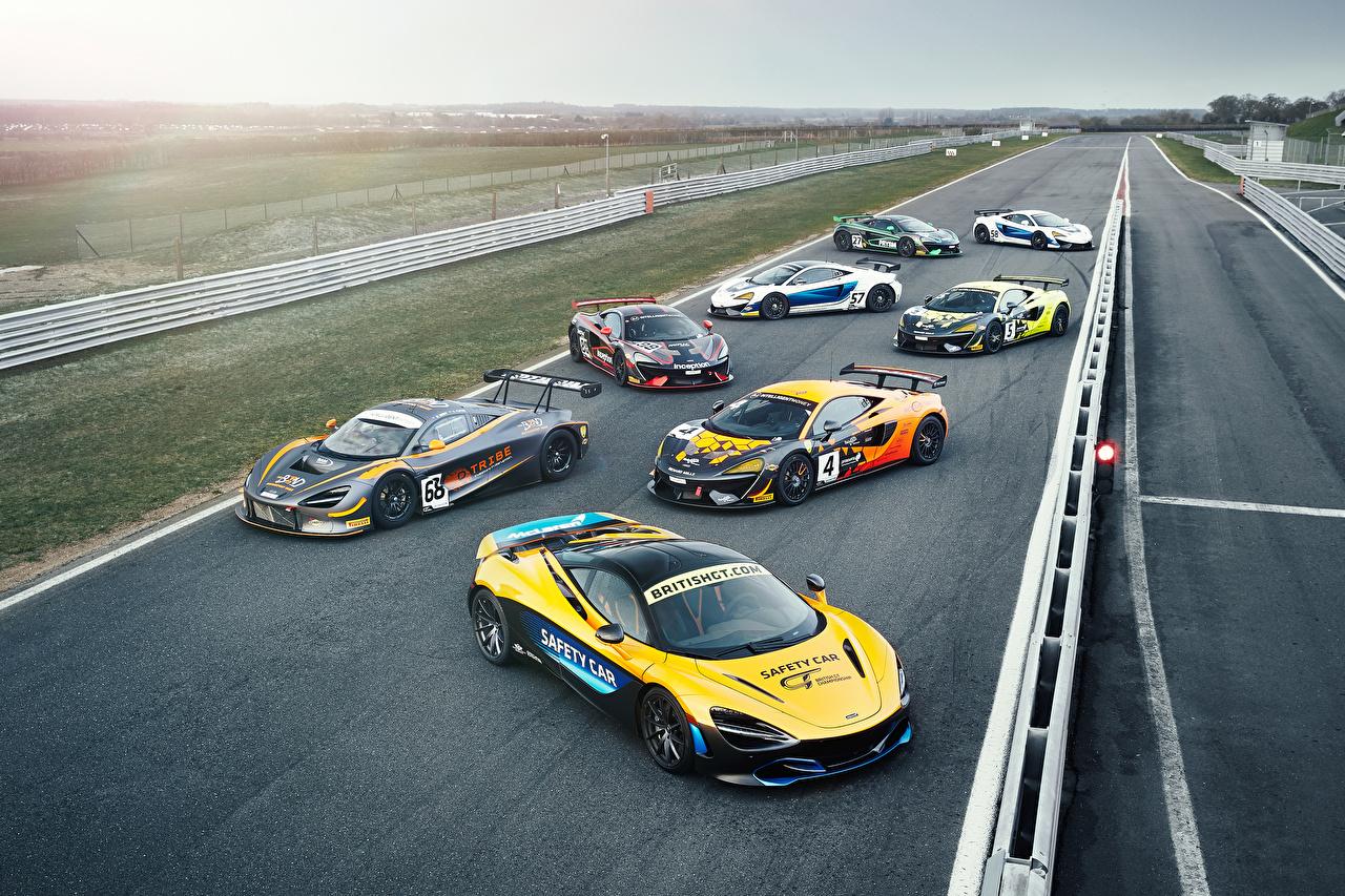 Картинка McLaren Тюнинг Автомобили Много Макларен Стайлинг авто машины машина автомобиль