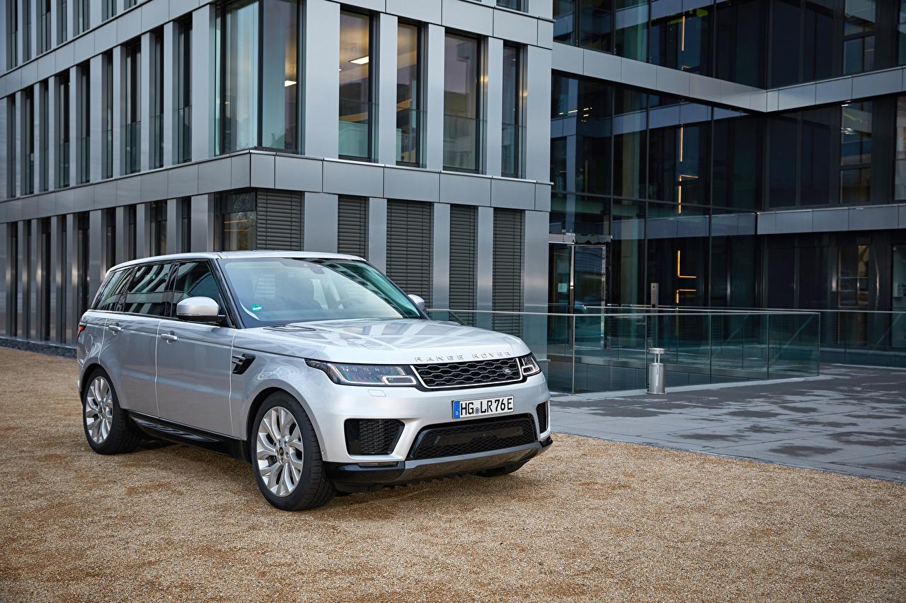Обои Land Rover CUV 2017-19 Sport P400e HSE Worldwide Гибридный автомобиль Серебристый автомобиль Range Rover Кроссовер серебряный серебряная серебристая авто машина машины Автомобили