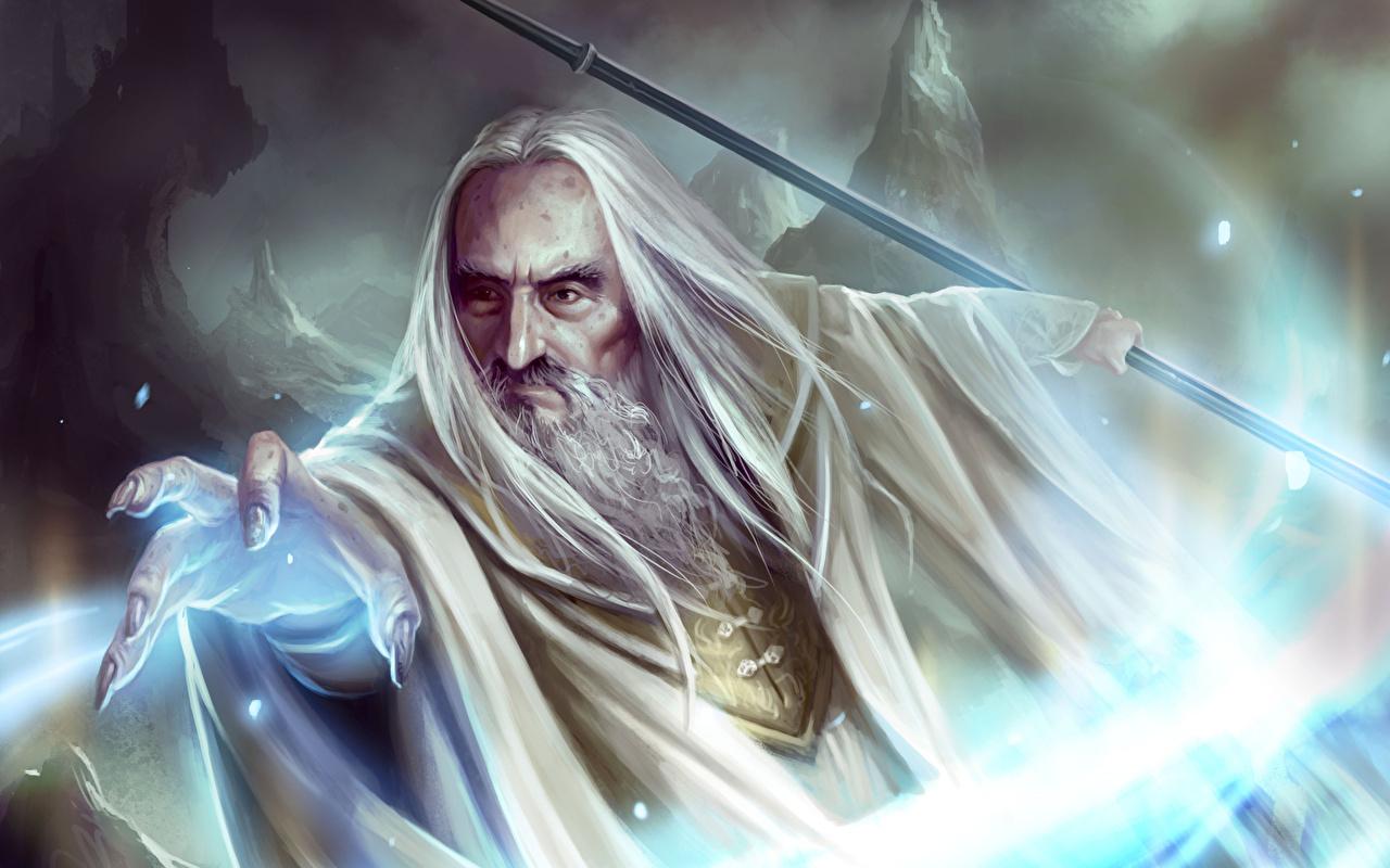 Фотография Властелин колец волшебство Saruman Фэнтези кино Магия Фантастика Фильмы