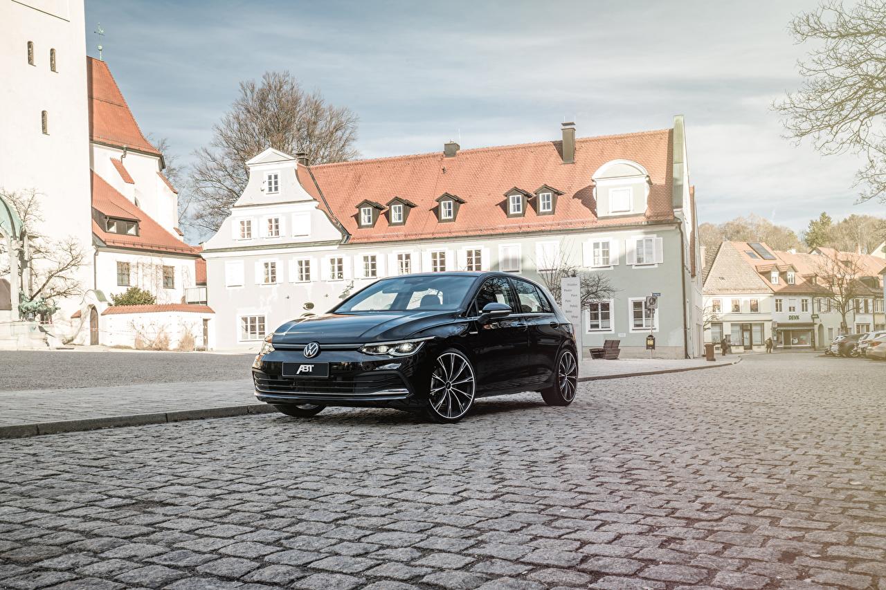 Фото Фольксваген 2020 ABT Golf Черный Металлик Автомобили Volkswagen черная черные черных авто машины машина автомобиль