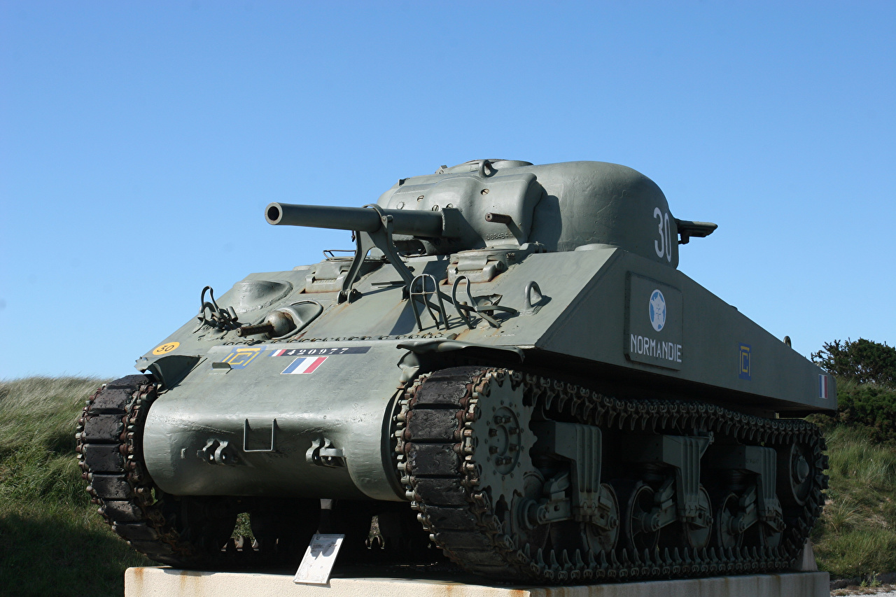 Фото M4 Шерман Танки Памятники Армия танк военные
