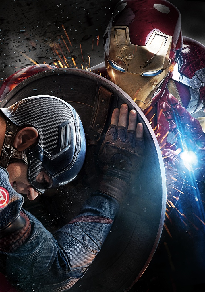 Фотографии Первый мститель: Противостояние Щит Капитан Америка герой Железный человек герой Steve Rogers Фильмы Знаменитости  для мобильного телефона щиты с щитом кино