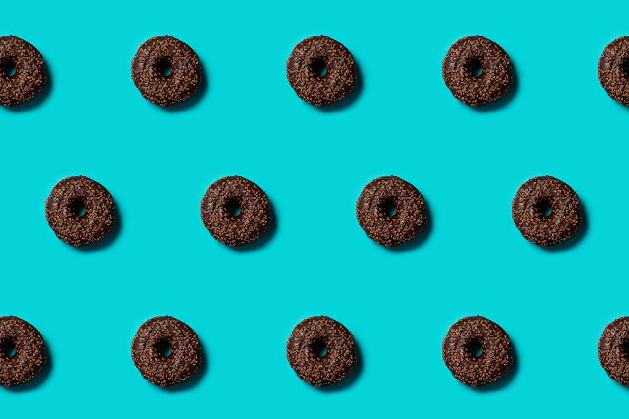 Картинка Текстура Пончики Еда Цветной фон Пища Продукты питания