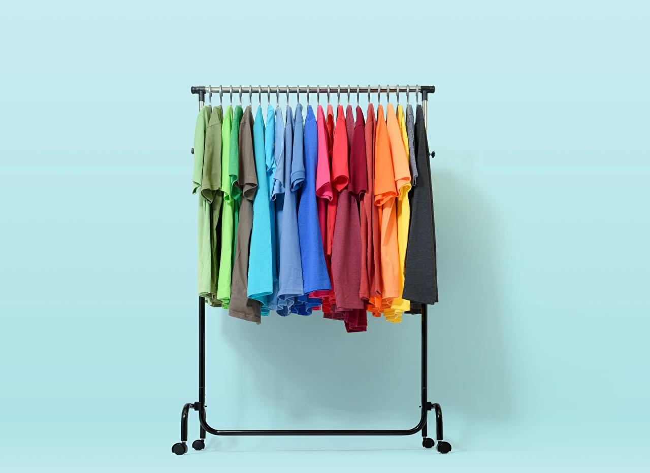 Обои для рабочего стола rack Разноцветные Футболка Много футболке