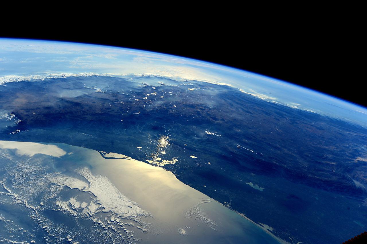 Фото Земля Мексика Поверхность планеты Космос земли