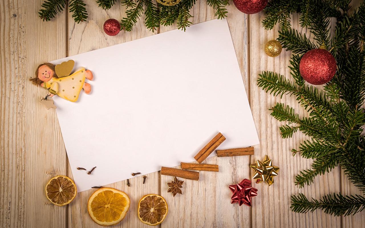 Фотография Рождество Лист бумаги Ангелы Шарики на ветке Шаблон поздравительной открытки Доски Новый год ангел Шар Ветки ветка ветвь