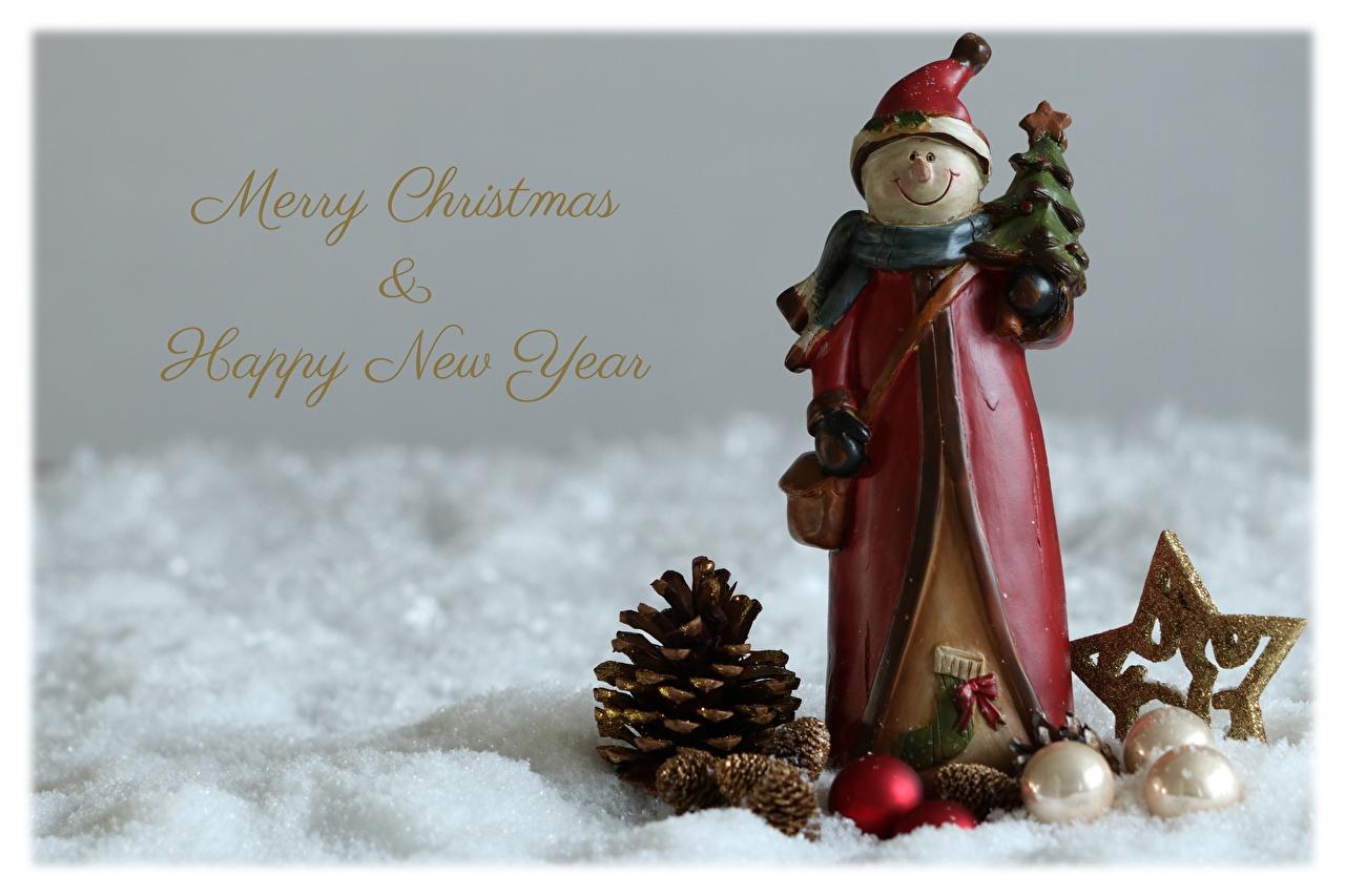 Картинки Новый год английская Шапки снеговик шишка Шарики Рождество инглийские Английский шапка в шапке снеговика Снеговики Шар Шишки