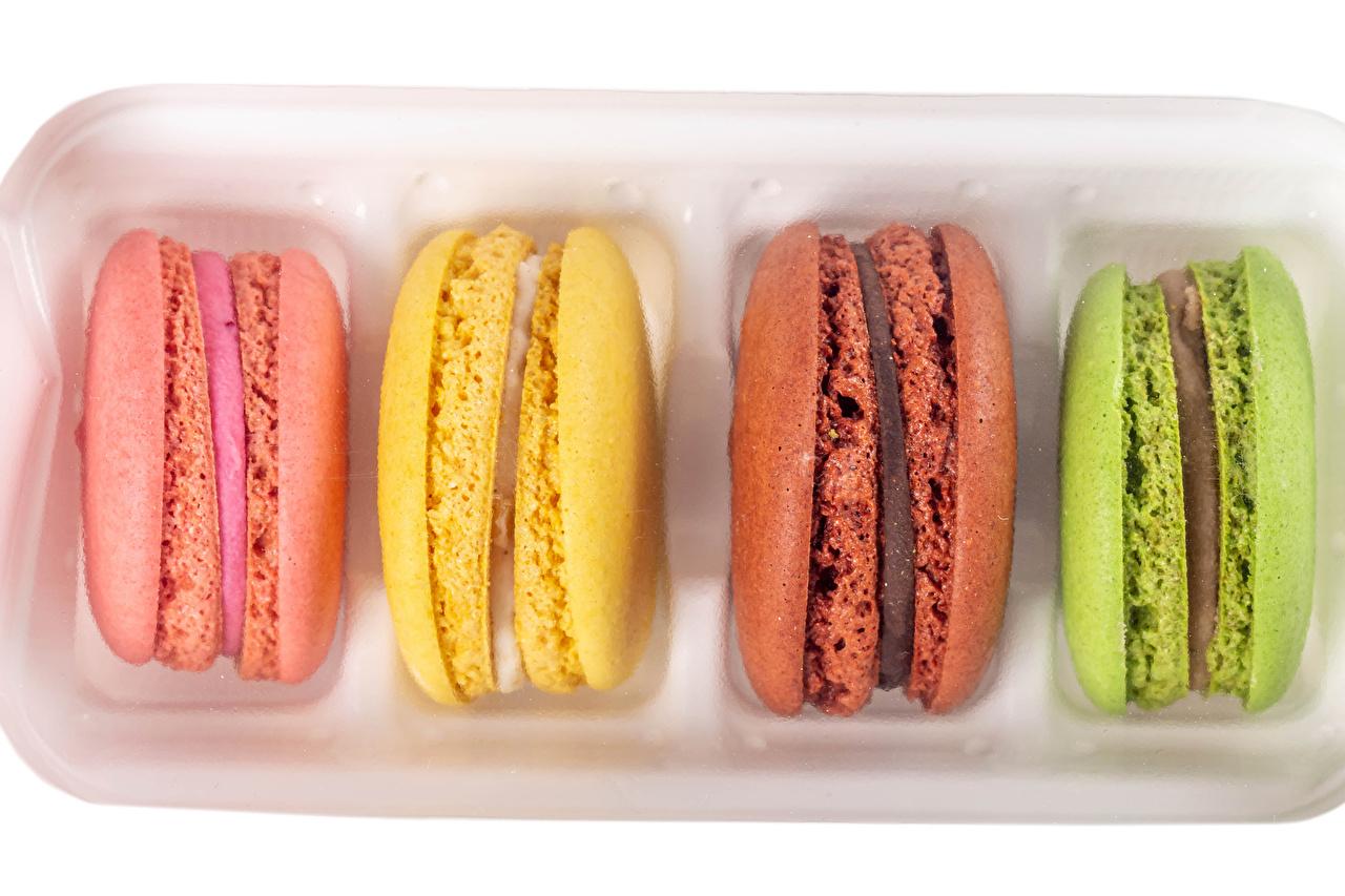 Фото Макарон Разноцветные Продукты питания Крупным планом Еда Пища вблизи