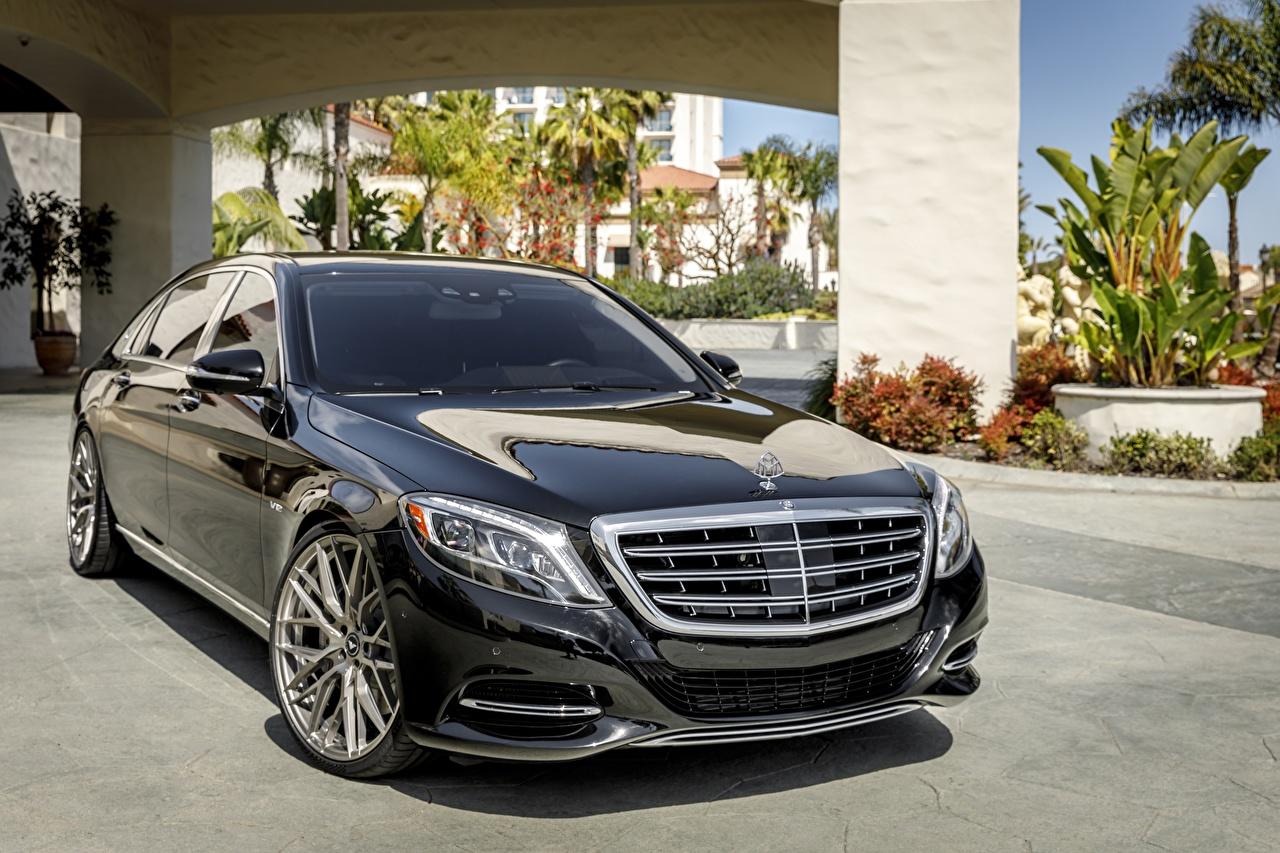 Фотографии Mercedes-Benz Maybach W222 • LED черная авто Мерседес бенц Черный черные черных машина машины Автомобили автомобиль