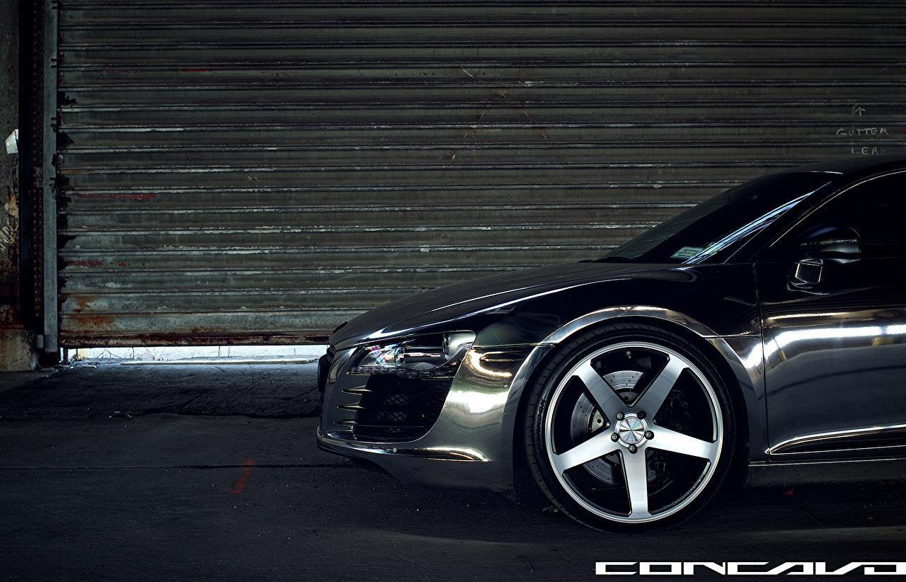 Фото Audi Concavo Wheels R8 CW-5 Черный Сбоку Автомобили Ауди черная черные черных авто машины машина автомобиль