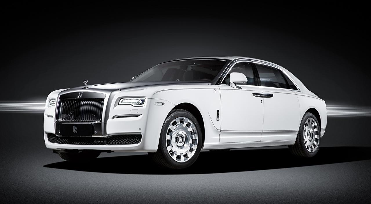 Фотография Rolls-Royce Ghost, Eternal Love, 2016 Седан дорогая белая машины Роллс ройс дорогие дорогой люксовые Роскошные роскошный роскошная Белый белые белых авто машина Автомобили автомобиль
