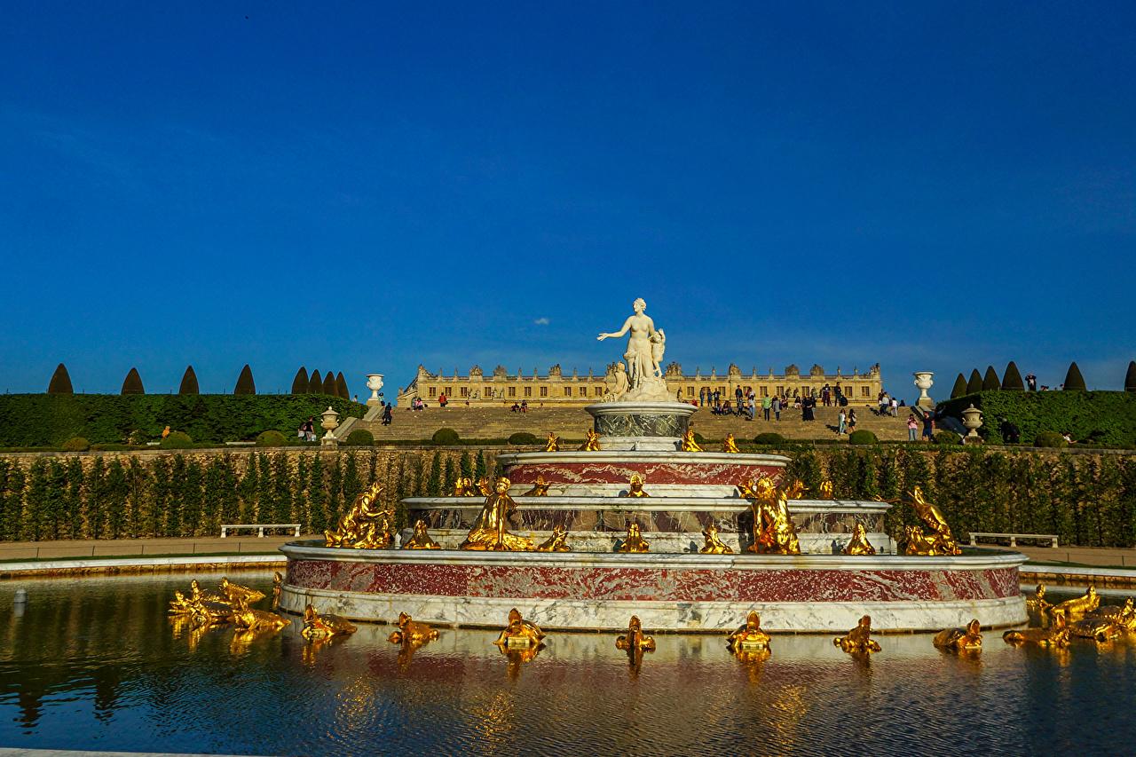 Фотография Франция Фонтаны Versailles Природа Парки Скульптуры парк скульптура