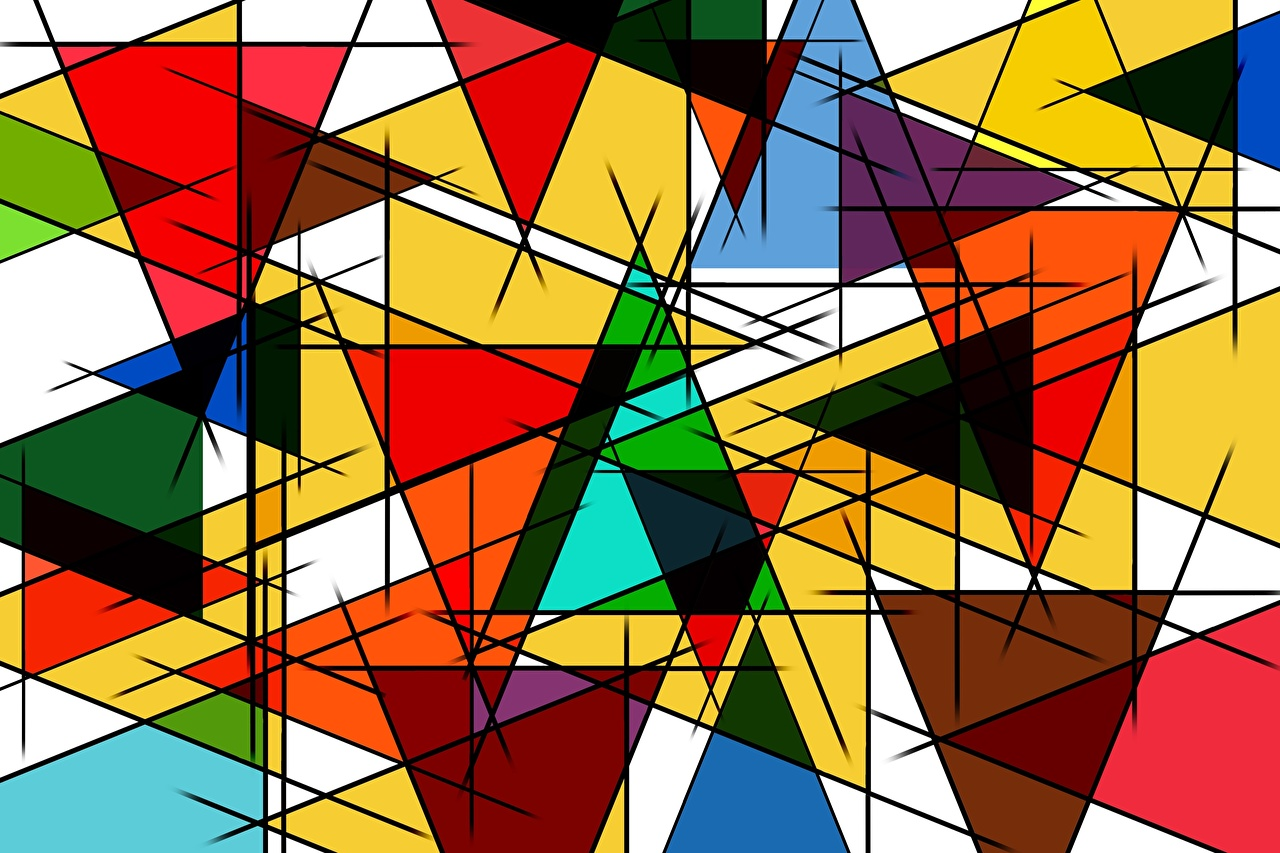 Фотографии Текстура Фигура Разноцветные Геометрия