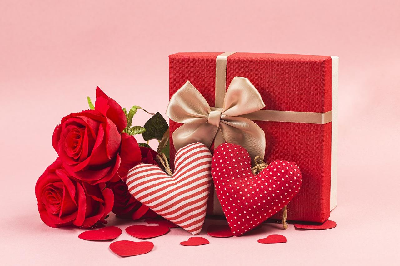 Фото День всех влюблённых сердечко Розы Цветы День святого Валентина Сердце