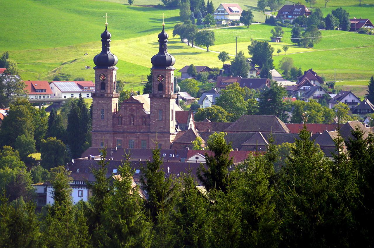 Картинка Германия Sankt Peter Дома Города город Здания