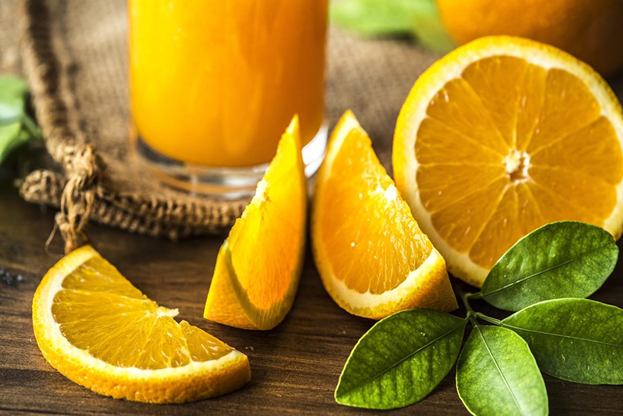Картинка Листья Апельсин Еда вблизи лист Листва Пища Продукты питания Крупным планом