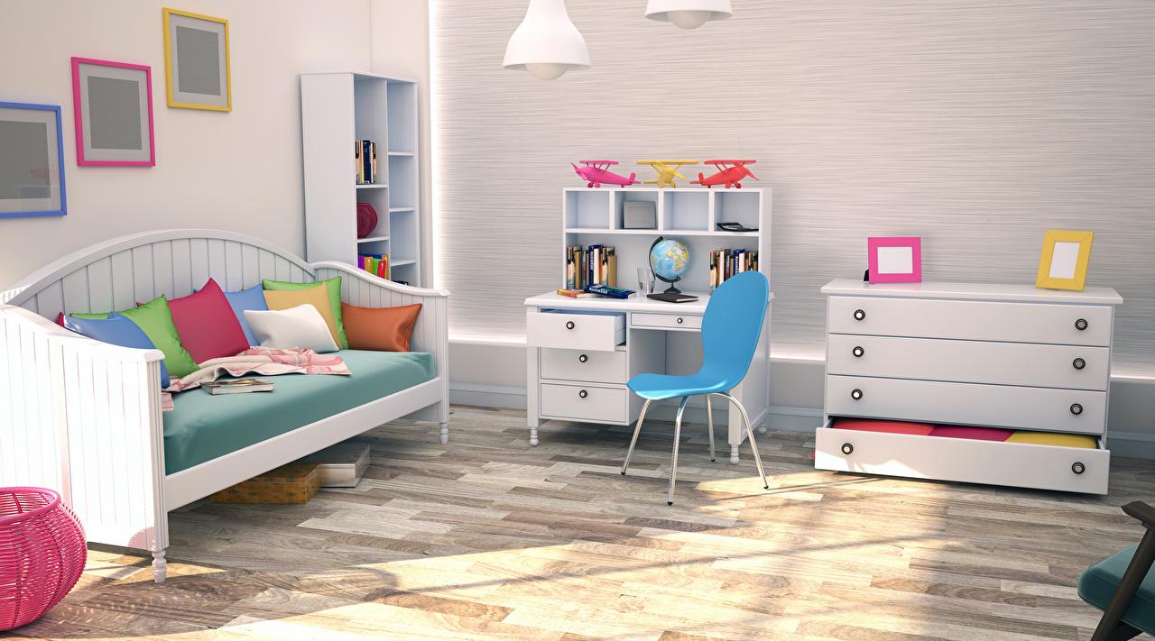 Фотографии Детская комната Интерьер стул Диван Подушки дизайна Стулья диване подушка Дизайн