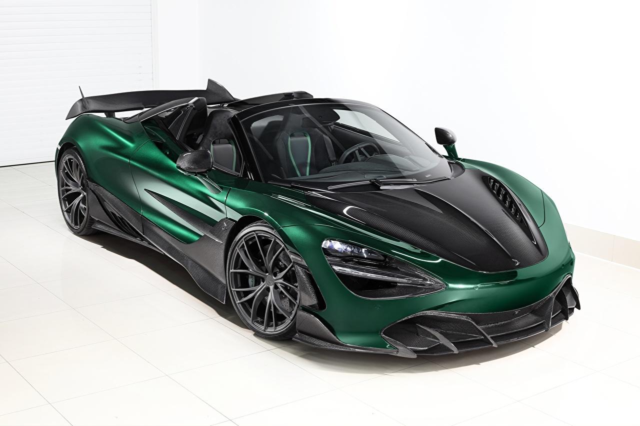 Фото Макларен карбоновый Spider, TopCar, Fury, 2020, 720S Родстер зеленая Металлик автомобиль McLaren Карбон карбоновая карбоновые Углепластик Зеленый зеленые зеленых авто машины машина Автомобили