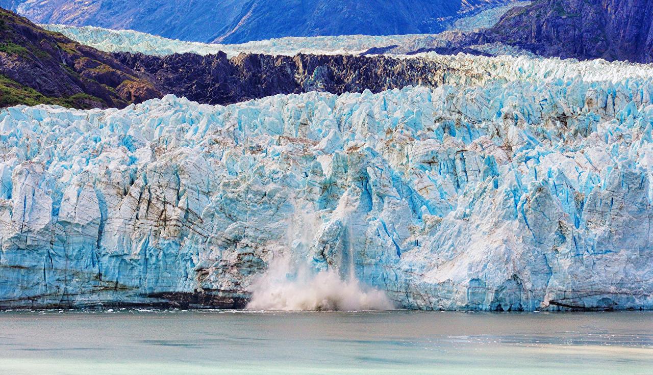 Картинки Лед гора Море Природа льда Горы