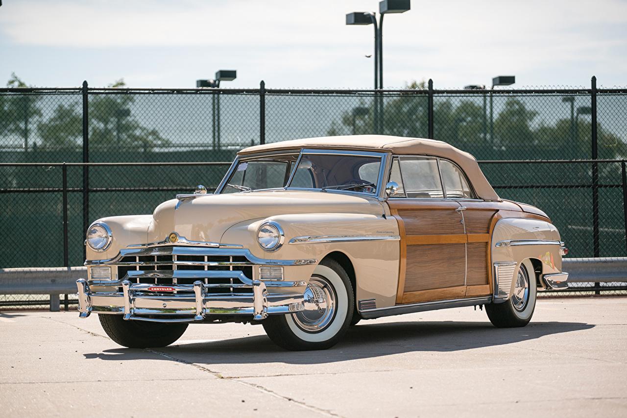 Обои для рабочего стола Chrysler 1949 Town Ретро машина Крайслер Винтаж старинные авто машины автомобиль Автомобили