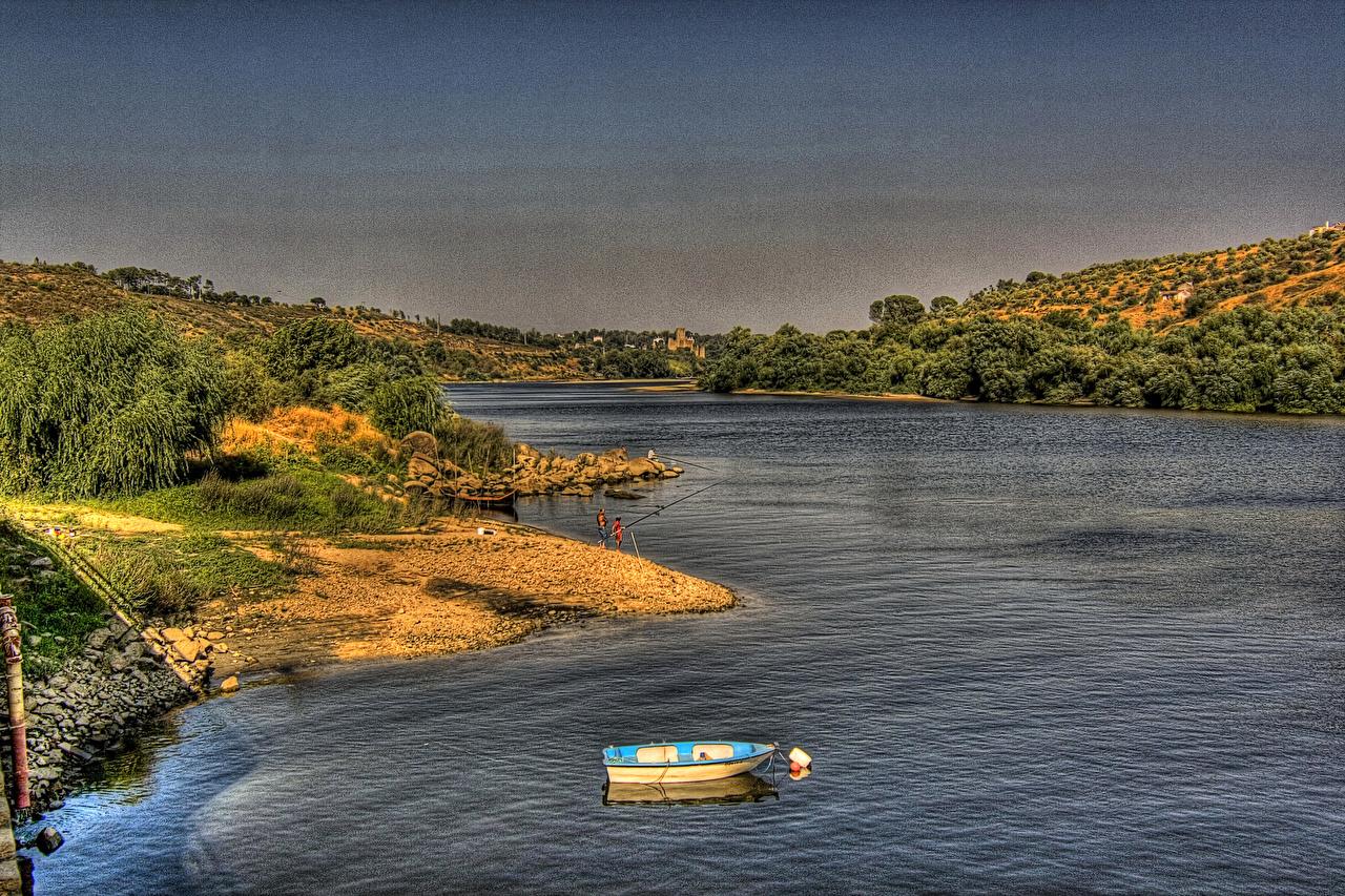Фото Португалия Arrepiado Santarem HDR Природа Пейзаж Реки HDRI река речка