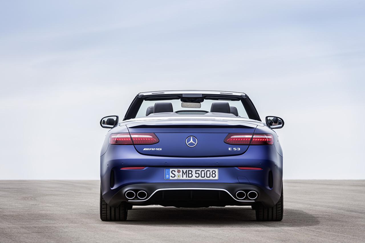 Картинка Mercedes-Benz E 53 4MATIC, Cabrio Worldwide, A238, 2020 Кабриолет синяя Сзади Металлик Автомобили Мерседес бенц кабриолета Синий синие синих авто машины машина вид сзади автомобиль