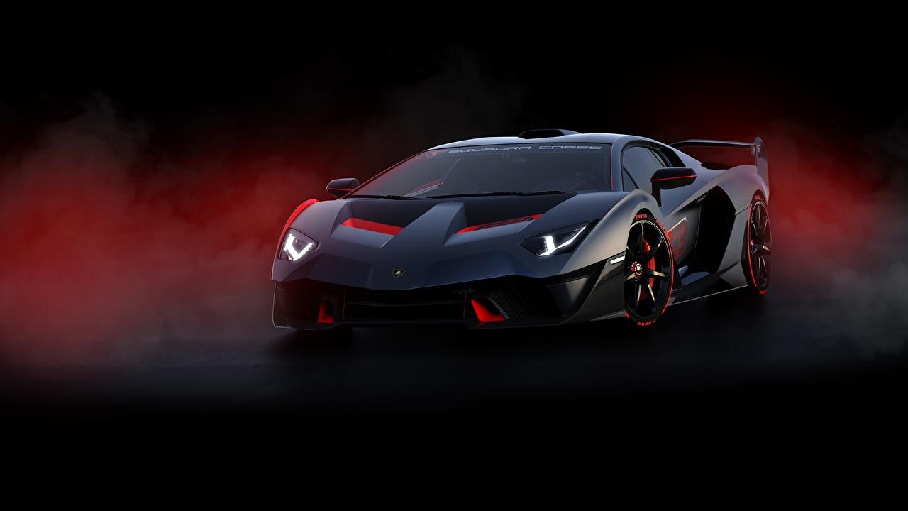 Обои Lamborghini Aventador SC18 Alston Авто Спереди Ламборгини Машины Автомобили