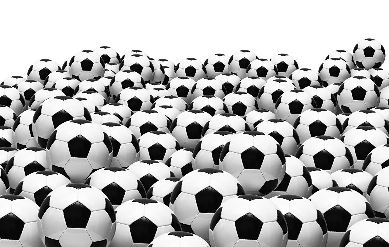 Фотография Спорт Футбол Мяч Много белом фоне спортивный спортивная спортивные Мячик Белый фон белым фоном