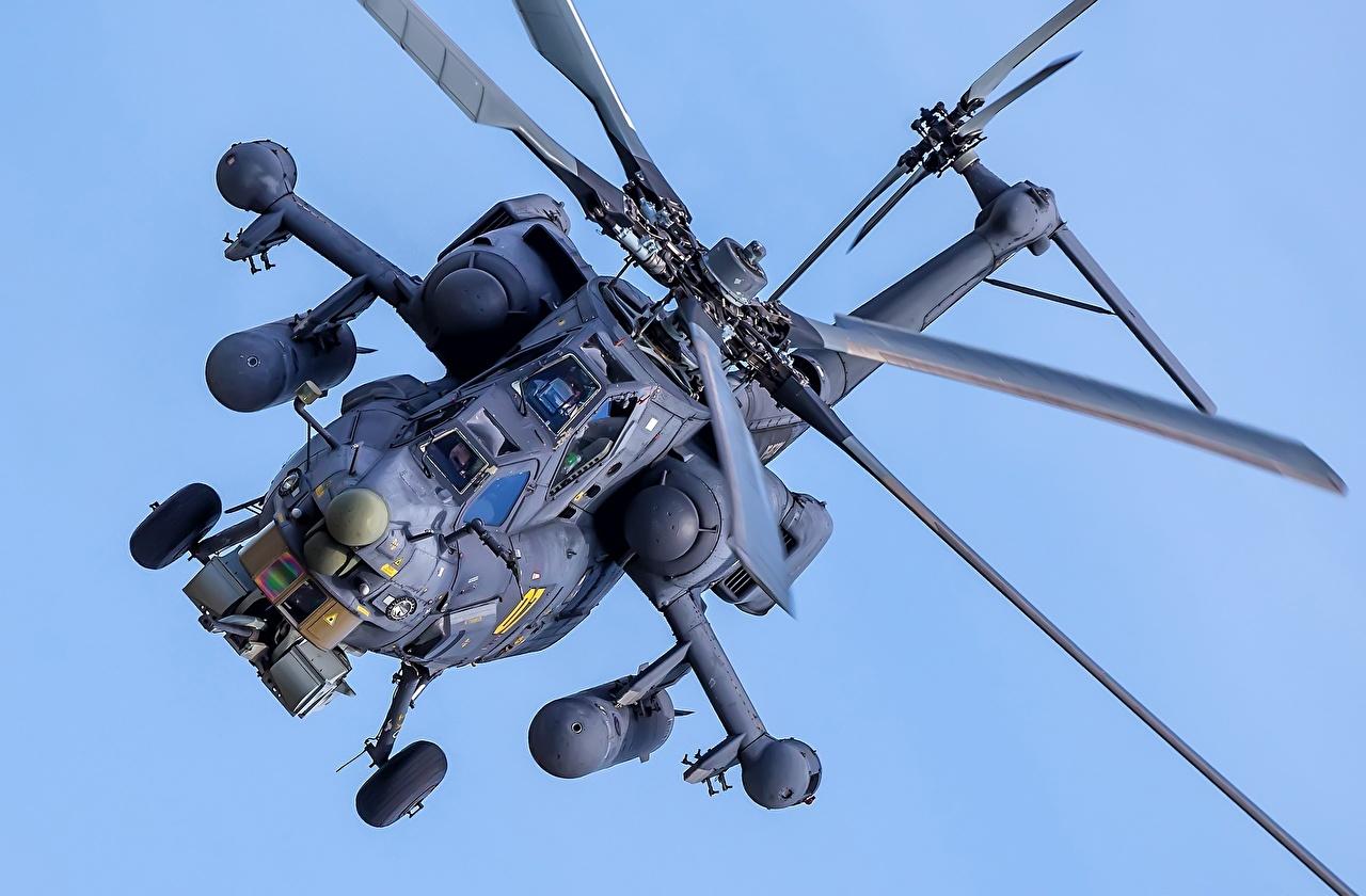 Картинка вертолет Русские Mil Mi-28H Авиация Вертолеты российские