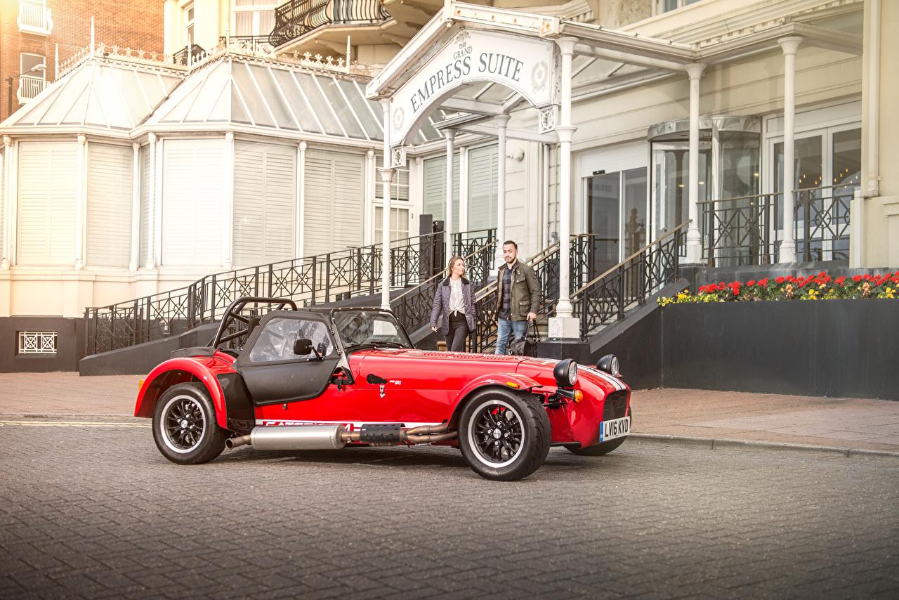 Картинки Caterham 7 2016 310 R Красный Авто Металлик Машины Автомобили