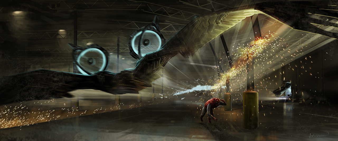 Фотографии Человек-паук: Возвращение домой Герои комиксов Человек паук герой Крылья Vulture Фильмы супергерои кино