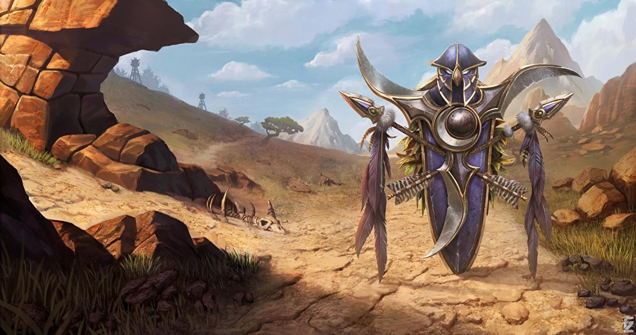 Фотография World of WarCraft щиты с копьем 3 Reforged Игры WoW Щит Копья с щитом компьютерная игра