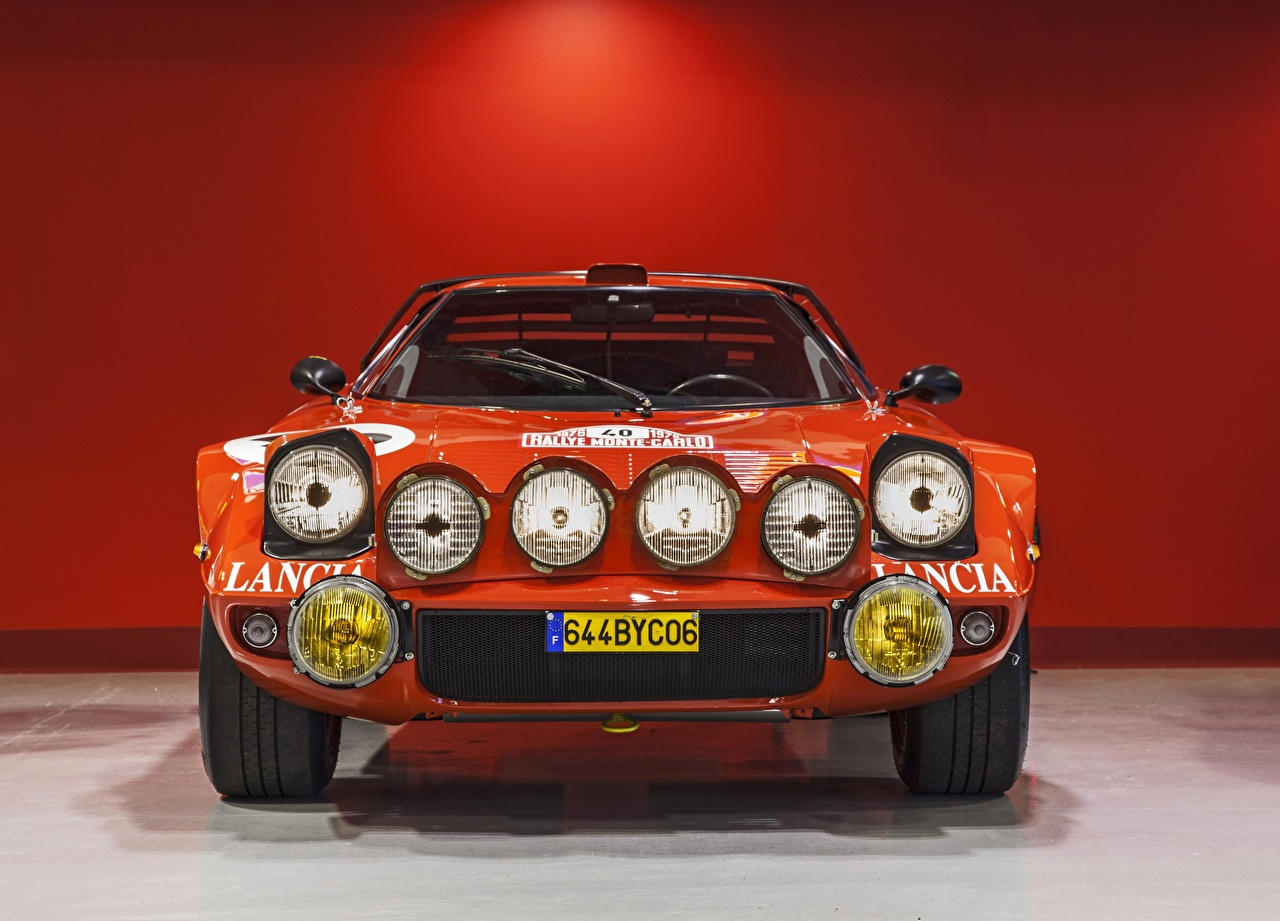 Картинка Lancia Stratos, Rally Car фар авто Спереди Лансия Фары машины машина Автомобили автомобиль